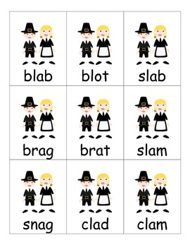 Thanksgiving Game for Words with Beginning Blends