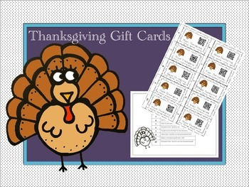 Thanksgiving Reward Cards - Editable
