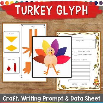 Thanksgiving Glyph, Survey, Craft, Data Sheet, & Writing Prompt