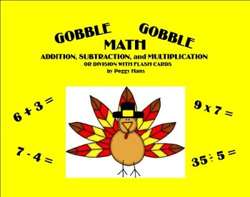 Thanksgiving Gobble Gobble Math Facts - Intermediate Games PDF