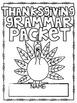 Thanksgiving Grammar Packet