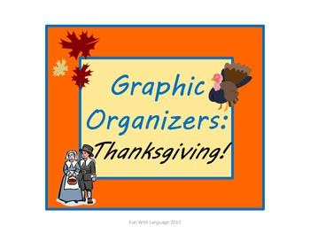 Thanksgiving: Graphic Organizers KWL Chart, Venn Diagram,