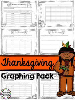 Thanksgiving Math Graphing Pack