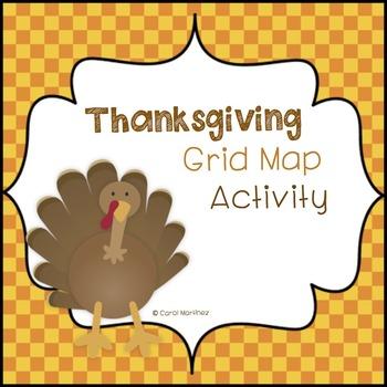 Thanksgiving Grid Map Activity