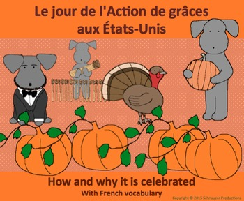 Thanksgiving History with French Vocabulary with Pepper