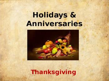 Holidays & Anniversaries - Thanksgiving