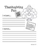 Thanksgiving Homework Fun using QR Codes (School to Home C