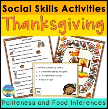 Thanksgiving Riddles & Manners- Social Skills, Articulatio