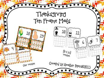 Thanksgiving Inspired Ten Frames