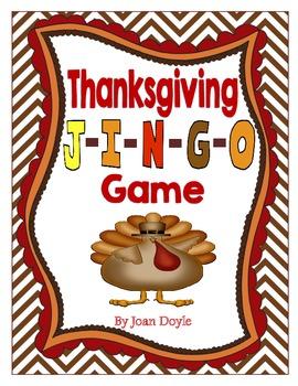 Thanksgiving J-I-N-G-O Game