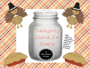 Thanksgiving Journal Jar Prompts