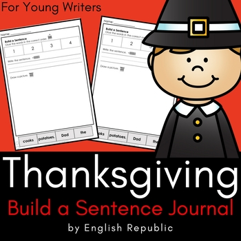 Thanksgiving Journal and Sketchbook for Beginner Writers -