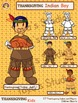 Thanksgiving Kids- Indian and Pilgrim Children Clipart Set