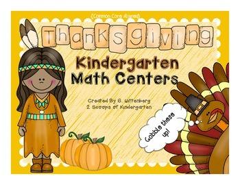 Thanksgiving Kindergarten Math Centers {Common Core Aligned}