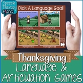 Thanksgiving Language & Articulation Activities - No Print