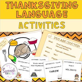 Thanksgiving Language Activities