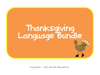 Thanksgiving Language Pack: Synonyms & Analogies