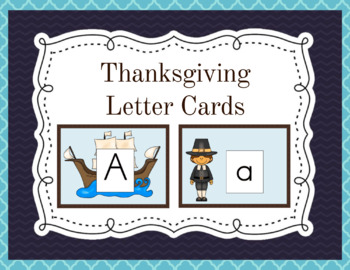 Thanksgiving Alphabet Cards and Charts (D'Nealian and Zane