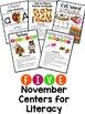 Thanksgiving Literacy, Thanksgiving Centers, Thanksgiving