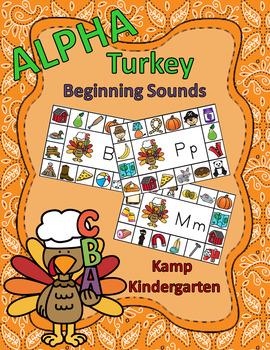 Thanksgiving Literacy Activities Alpha Turkey Beginning Co