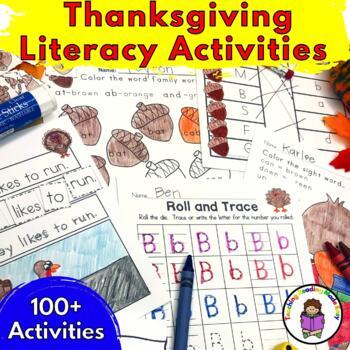 Thanksgiving Literacy Activities for Kindergarten