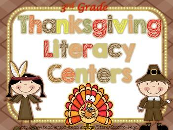 Thanksgiving Literacy Centers! Third Grade