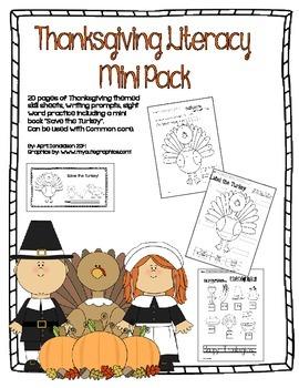 Thanksgiving Literacy Mini Pack