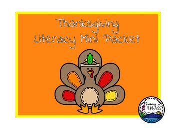 Thanksgiving Literacy Mini Packet