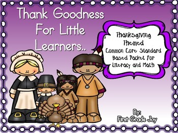 Thanksgiving Emergent Reader and Literacy/Math Packet