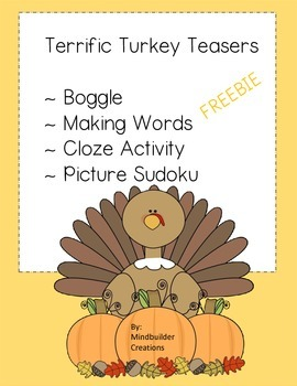 Thanksgiving Literacy Printables Freebie