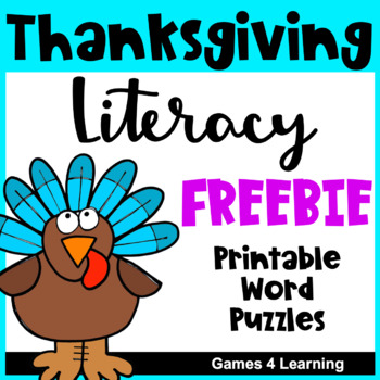 Thanksgiving Activities: Thanksgiving Free Activities Lite