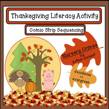 Thanksgiving Literacy Sequencing Activity:Nursery Crimes b