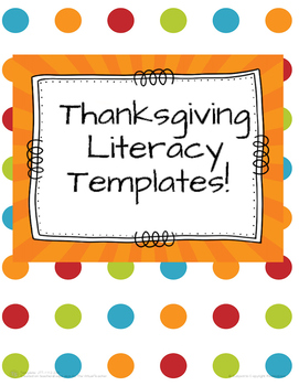 Thanksgiving Literacy Templates