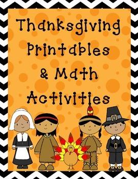 Thanksgiving Literacy and Math Bundle
