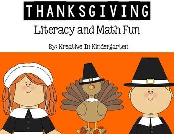 Thanksgiving Literacy and Math Fun!
