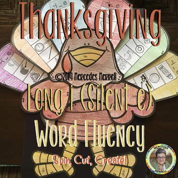 Thanksgiving Long i (Silent e) Word Fluency Spin, Cut, Create!