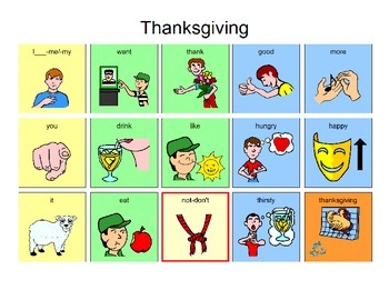 Thanksgiving Manual Board 15 location for AAC Users
