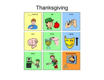 Thanksgiving Manual Board 9 location for AAC users