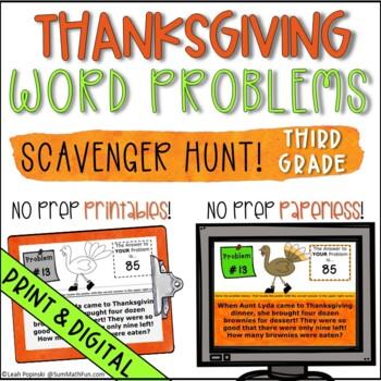 Thanksgiving Activities Math 3rd Grade