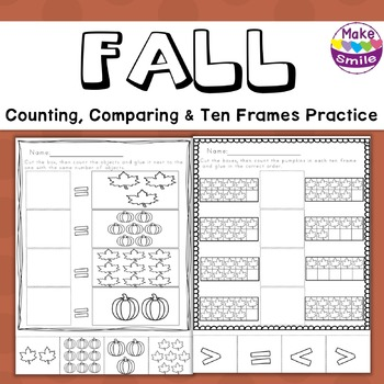 Fall Count and Compare Worksheets