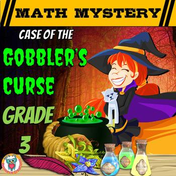 Thanksgiving Math Activity: Math Mystery {GRADE 3 Mixed Ma