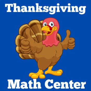 Thanksgiving Math Center | Thanksgiving Math Activity
