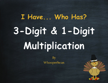 Thanksgiving Math: 3-Digit and 1-Digit Multiplication - I
