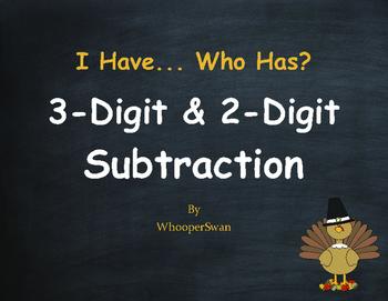 Thanksgiving Math: 3-Digit and 2-Digit Subtraction - I Hav