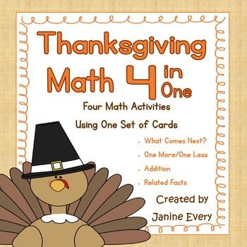 Thanksgiving Math:  Number Sense and Basic Facts