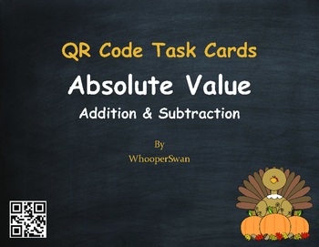 Thanksgiving Math: Absolute Value - Addition & Subtraction