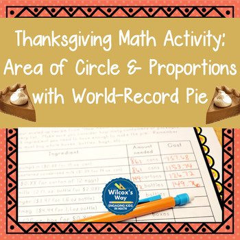 Thanksgiving Math Activity: Geometry and Proportions with Pie