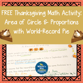 Thanksgiving Math Activity:  Geometry and Proportions with