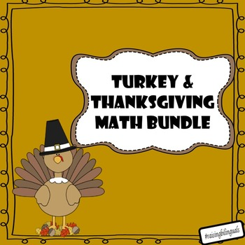 Thanksgiving and Turkey Math Bundle! (primary)