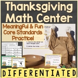 Thanksgiving Math Center Differentiated (Counting, Additio